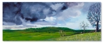 Quainton Hill from Granborough Catherine Winget - oil on canvas 50.5 cm x 20 cm art artist landscape oil painting modern art contemporary art