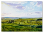 From Quainton Hill Catherine Winget oil painting on canvas landscape painting art North Bucks Farm Hill Countryside