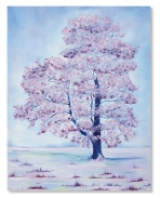 Gawcott Tree Catherine Winget - oil on canvas art artist oil painting oil landscape