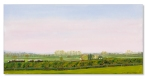 Steeple Claydon Lenborough 1 oil painting Catherine Winget art landscape painting North Buckinghamshire