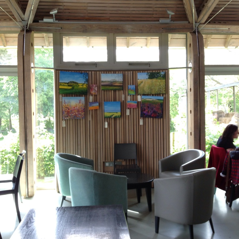 Catherine Winget, paintings, cafe in Stowe National Trust Gardens, artist , oil painting