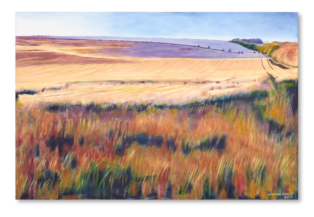 oil landscape painting norfolk countryside wallart modern art catherine Winget