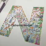 Alphabet letter N Original watercolour painting by Catherine Winget on catherinewinget.com