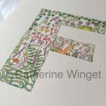 Alphabet letter F Original watercolour painting by Catherine Winget on catherinewinget.com