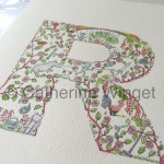 Alphabet letter Q Original watercolour painting by Catherine Winget on catherinewinget.com